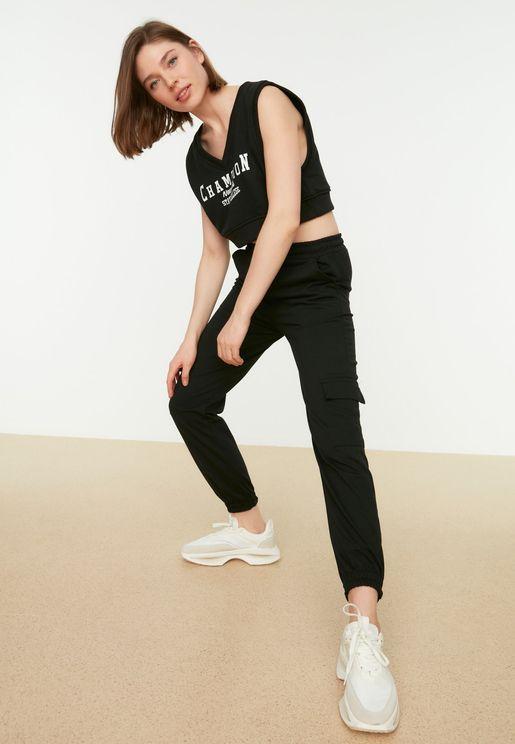 Pocket Detail Pants