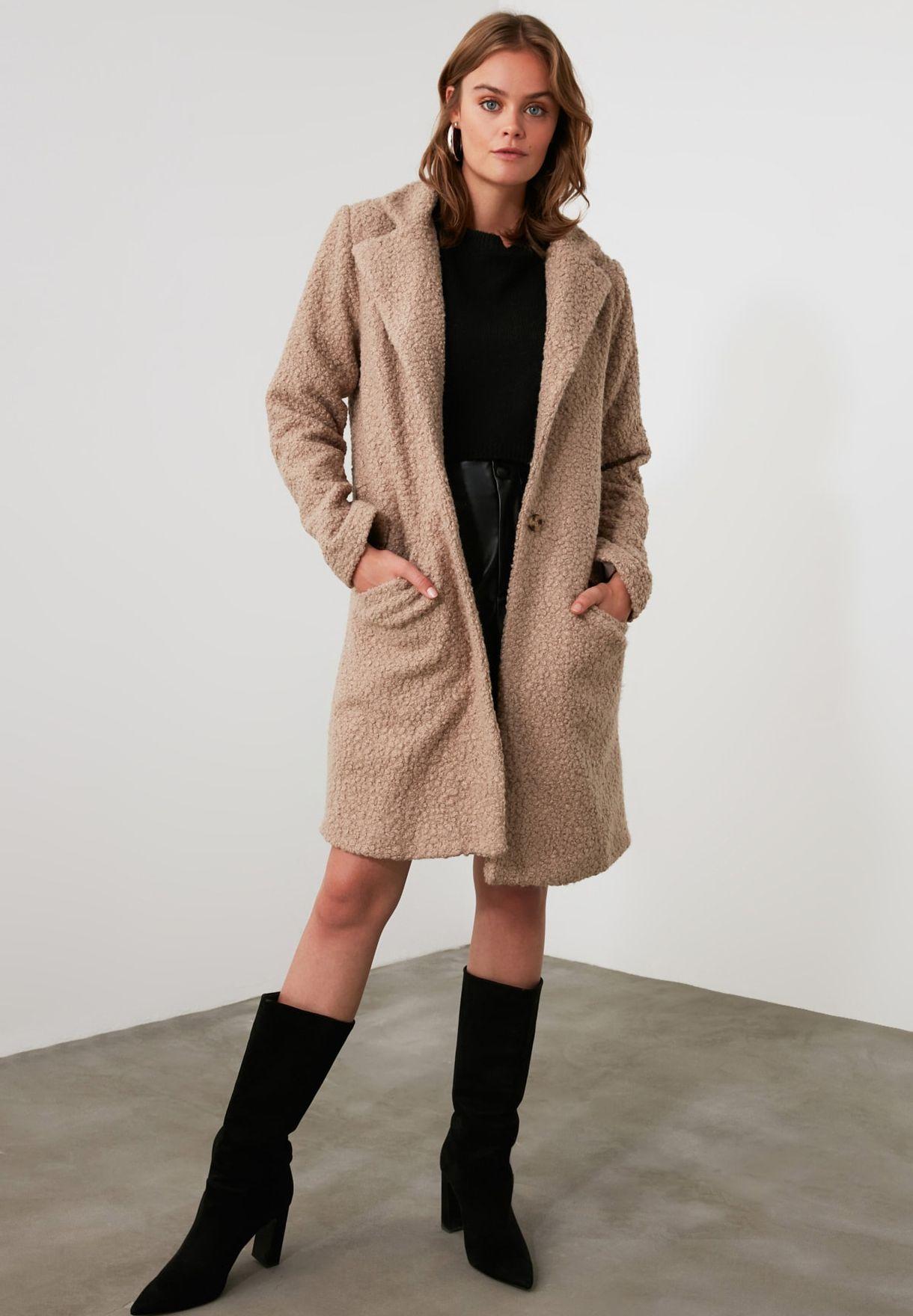 Longline Faux Fur Coat