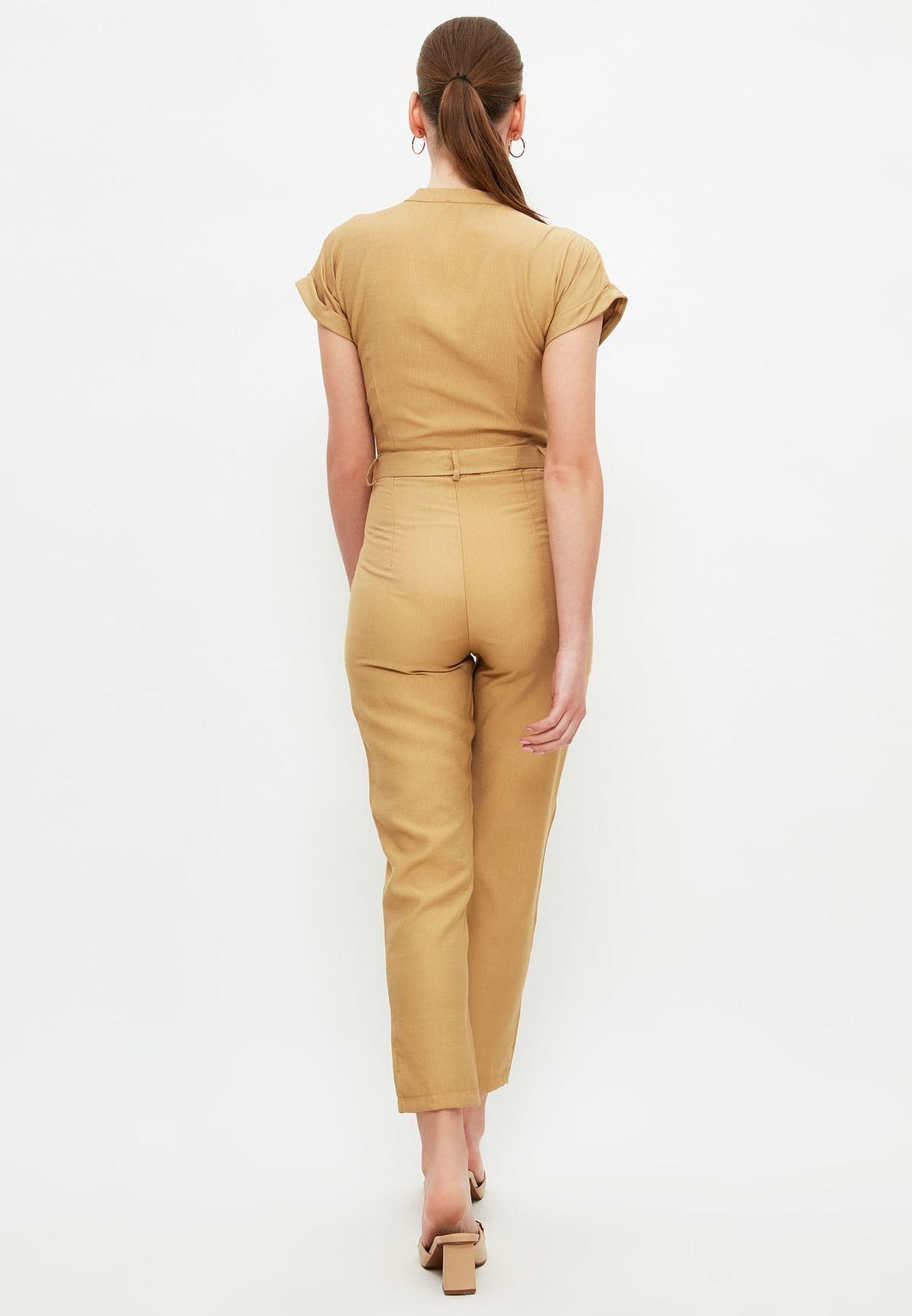 Button Detail Jumpsuit