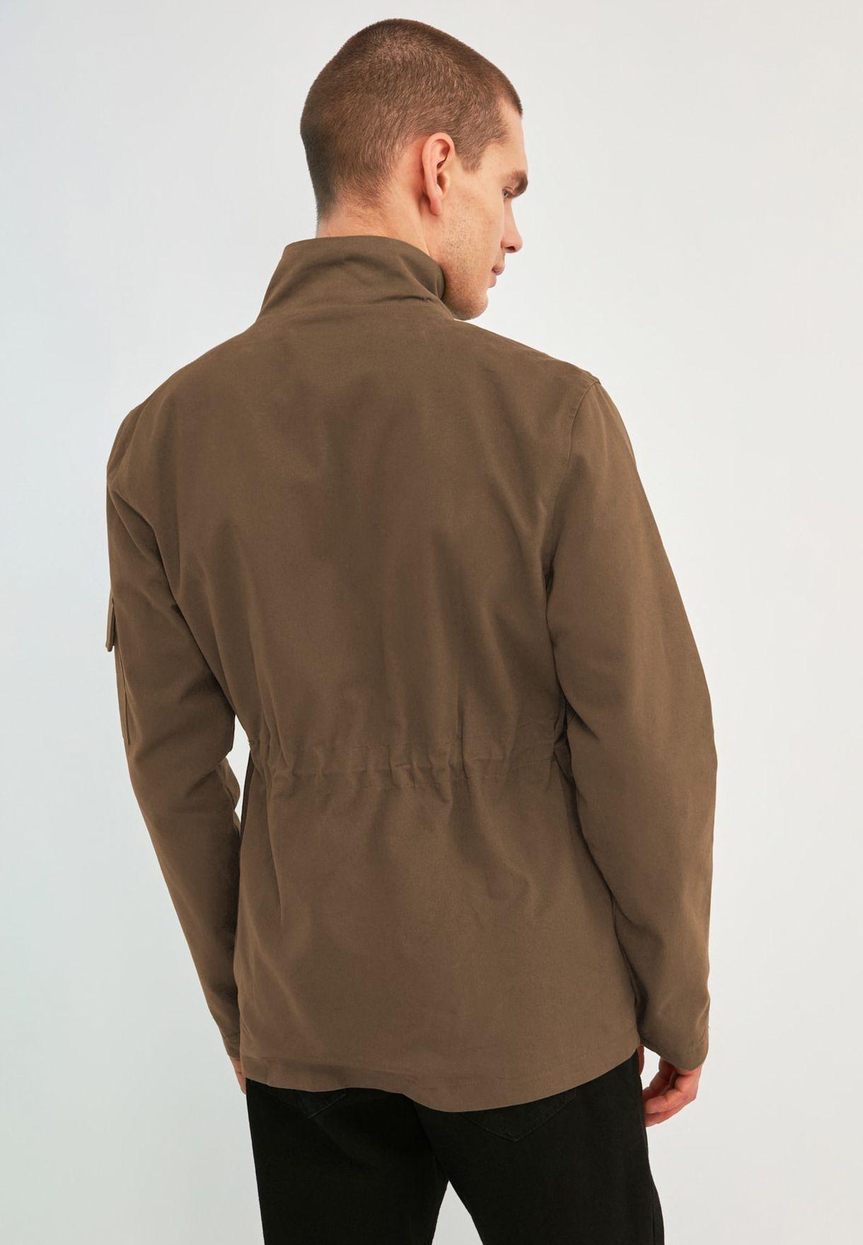Pocket Detail Oversize Jacket