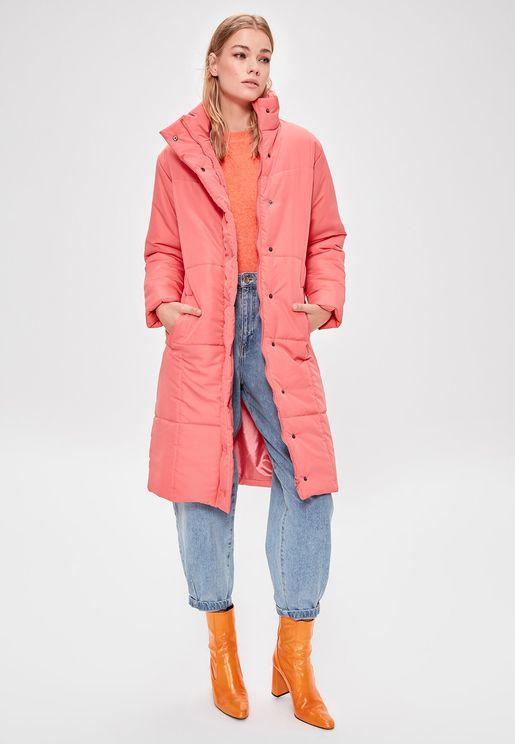 Longline Puffer Coat