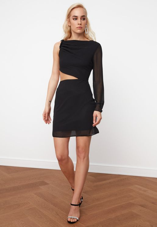 Cut Out Detail Dress