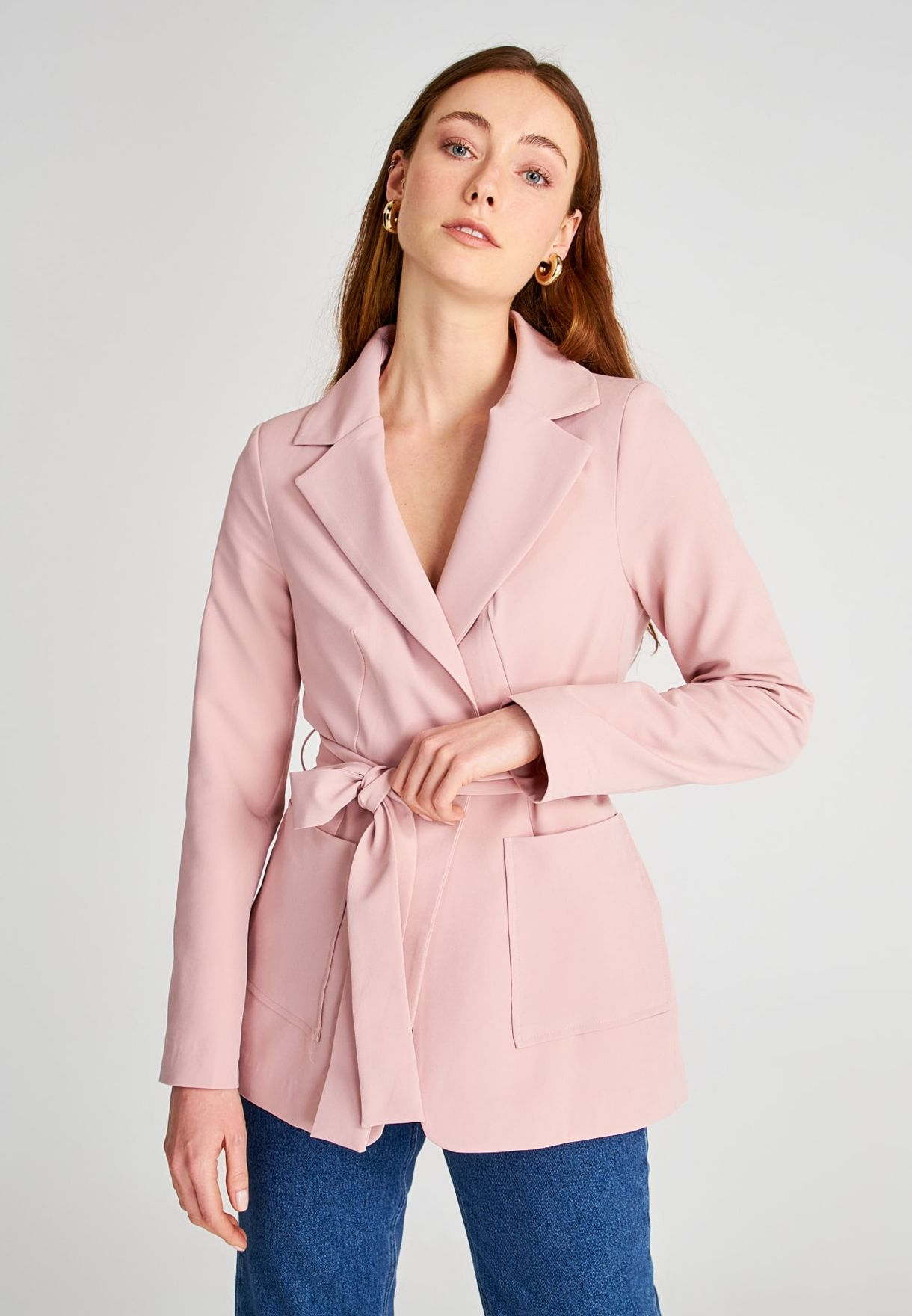 Buy Trendyol Pink Tailored Blazer For Women, Uae 27680at8znwp