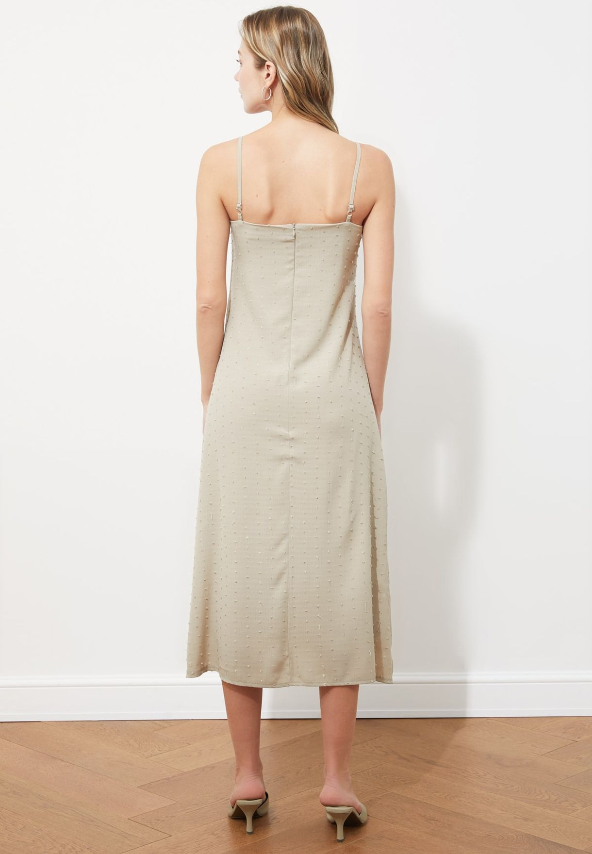 Front Knot Ribbed Dress