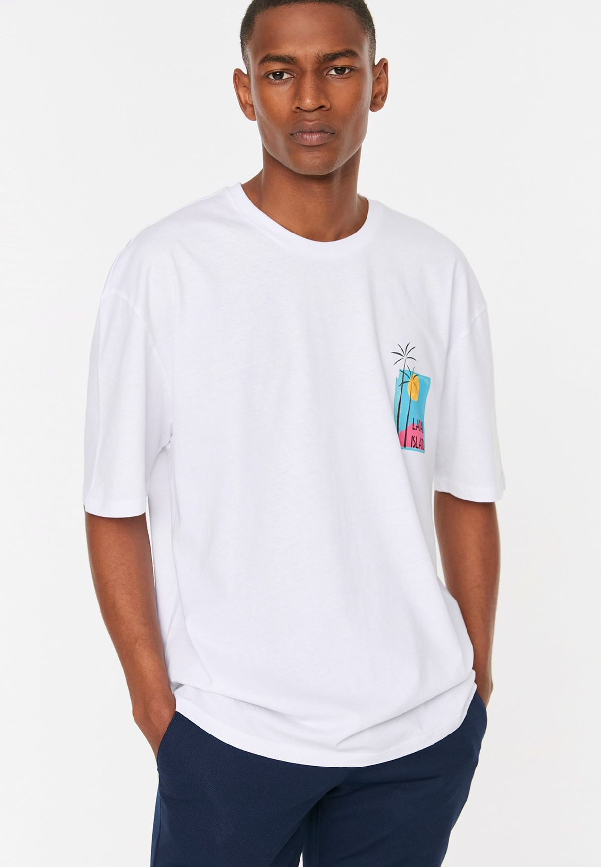 Back Print Crew Neck T-Shirt