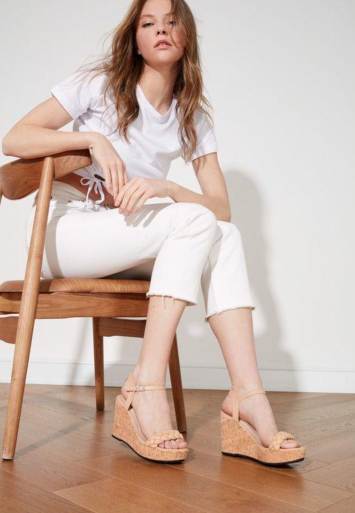 High Heel Wedge Sandal