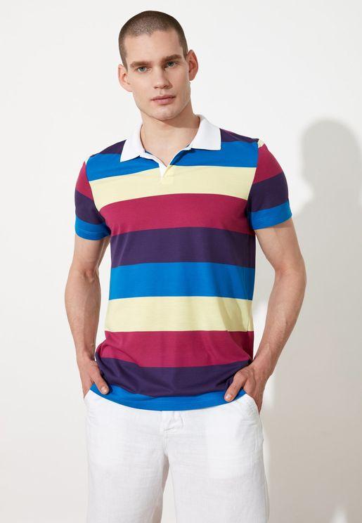 Color Block Polo