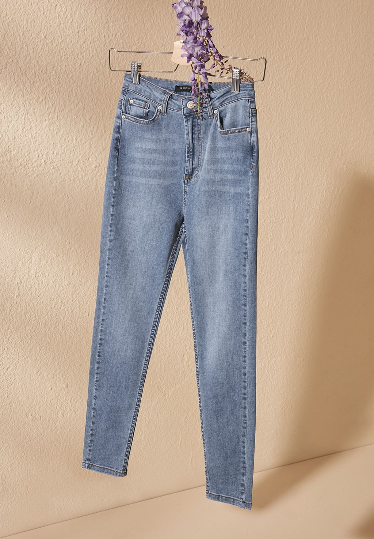 Mid Wash High Waist Jeans