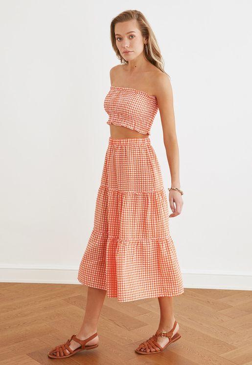 Knitted Top & Skirt Set
