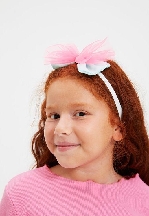 Kids Tulle Bow Detail Headband