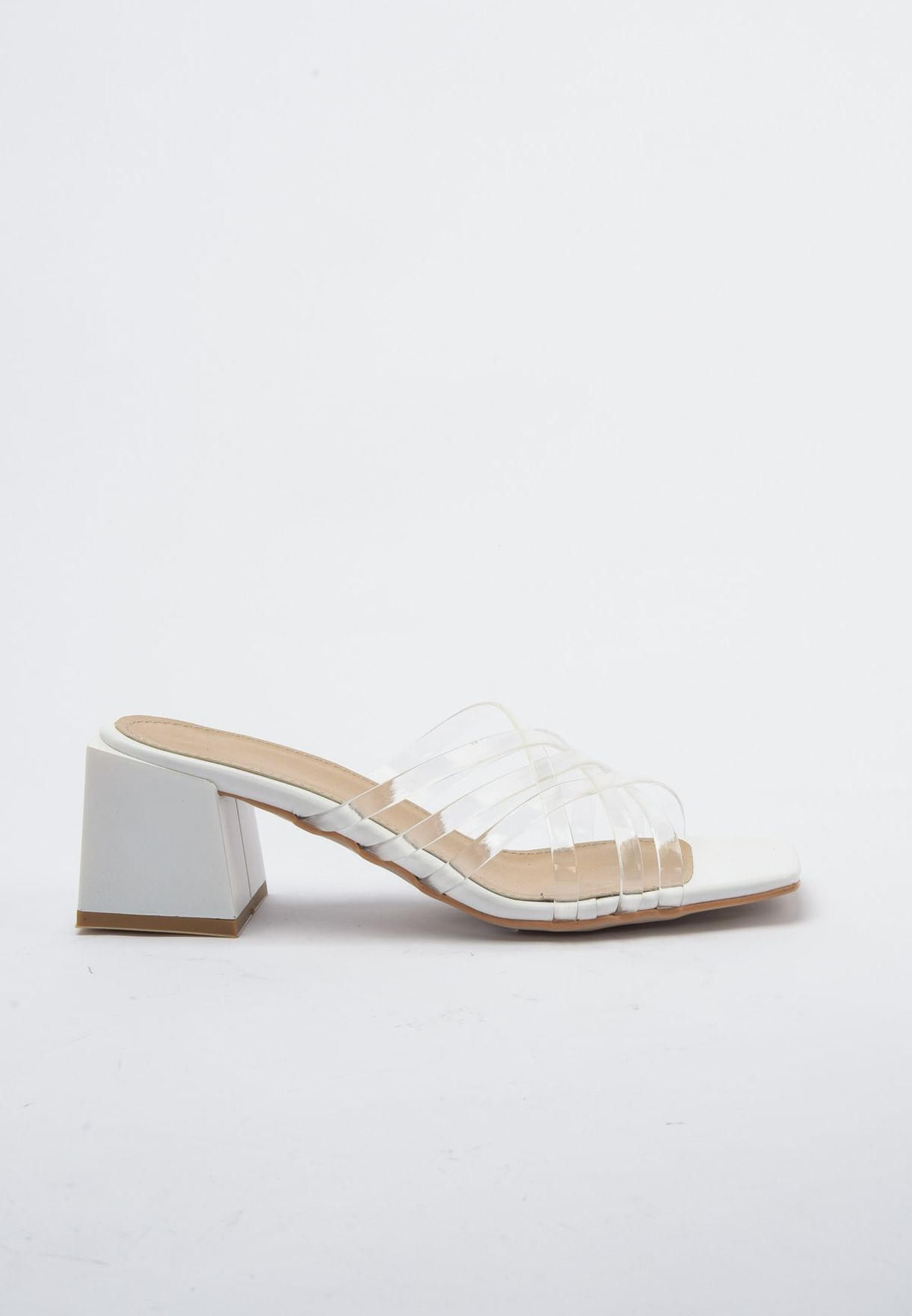 Transparent Detail Flat Sandal