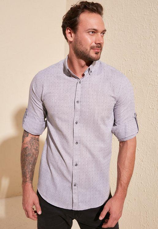 Geo Print Slim Fit Shirt