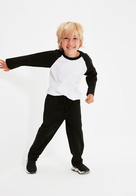 Kids Raglan T-Shirt & Sweatpants Set