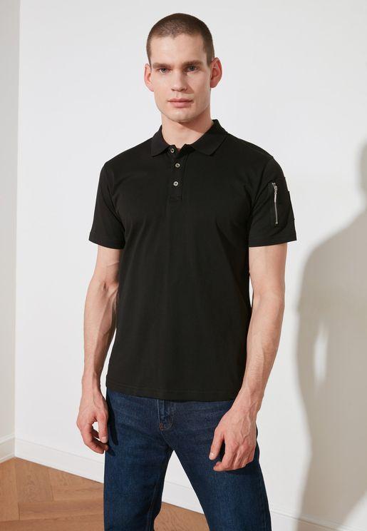Essential Zip Detail Sleeve Polo