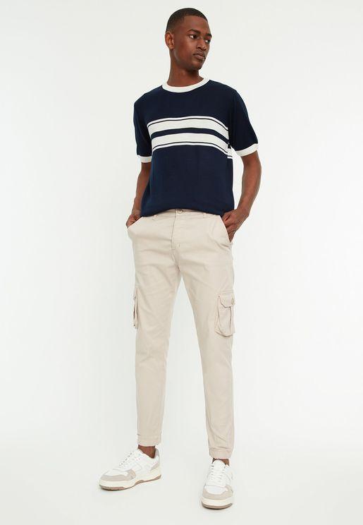 Pocket Detail Cargo Pants