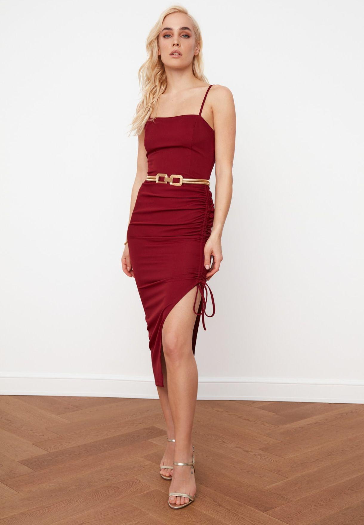 Side Tie Bodycon Dress