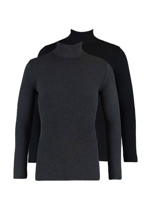 2 Pack Turtle Neck Knitted Sweater