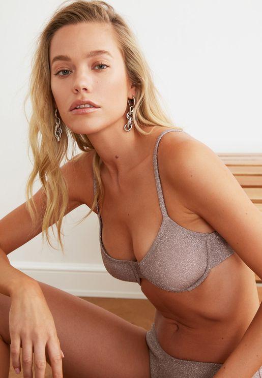 Glossy Coated Bikini Top